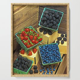 Boxed Berries Serving Tray