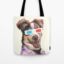 tropical shirt and the 3D glasses Tote Bag