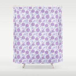 Lilac Hydrangea Shower Curtain
