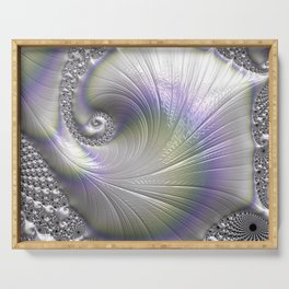 Fractal Art-Opalescent Shell Serving Tray