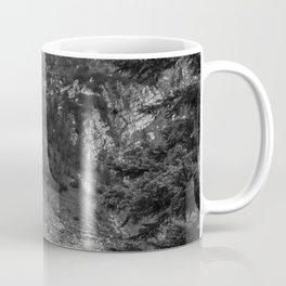 Between Pine (Black and White) Coffee Mug