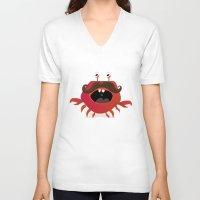 cancer V-neck T-shirts featuring Cancer by Maria Jose Da Luz