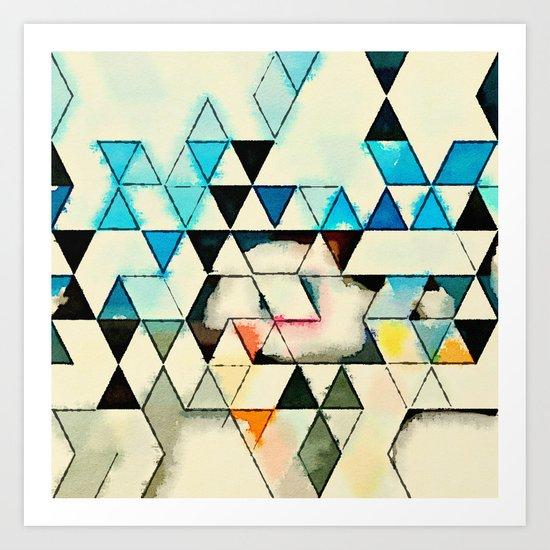 Geometric W1 Art Print