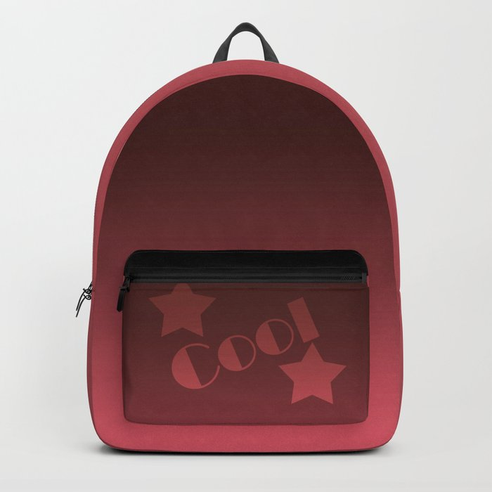 Black-red Ombre Backpack