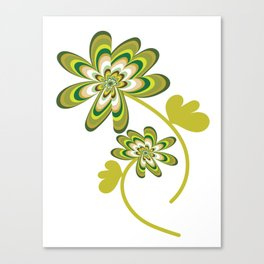 Green Streak Canvas Print
