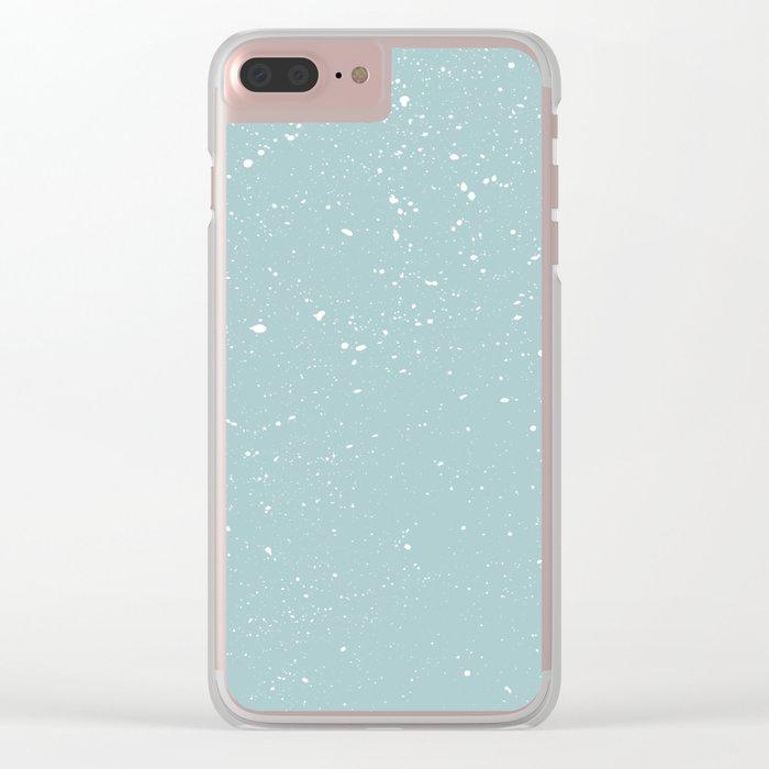 Snowfall paint splatter Clear iPhone Case