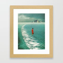 Waiting For The Cities To Fade Out Framed Art Print