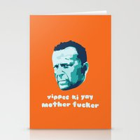 die hard Stationery Cards featuring Die Hard Yippee Ki Yay by Ariel Wilson