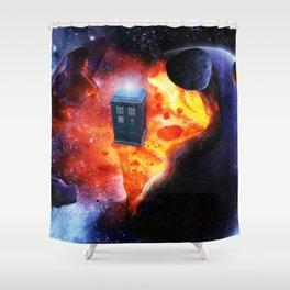 Space Tardis Shower Curtain