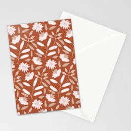 Abstract Spring Flower Pattern 2 Stationery Cards