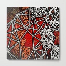 Geometric shadows Metal Print