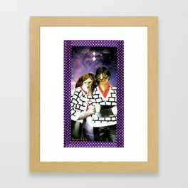 ME + U 4EVA handcut collage Framed Art Print
