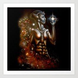 Nebula Queen Art Print