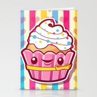 cupcake Stationery Cards featuring Cupcake by Acrylicana
