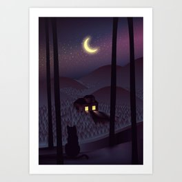 Silent Watcher Art Print