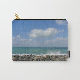 Aqua stone beach - Beaches Carry-All Pouch