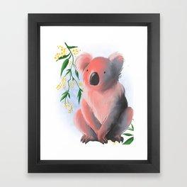 Sunset Koala Framed Art Print