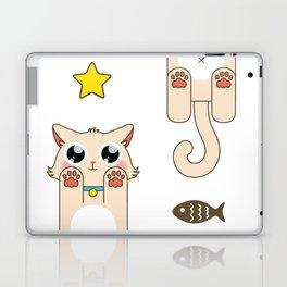 Cream Pastel Cat Laptop & iPad Skin