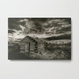 An Old Hut Metal Print