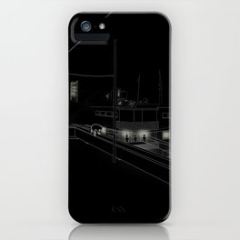 Dog on the roof iPhone Case