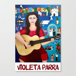 "Violeta Parra and the song ""Black wedding II"" Canvas Print"