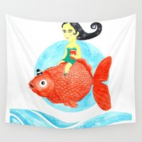 fish Wall Tapestries featuring Fish by gunberk