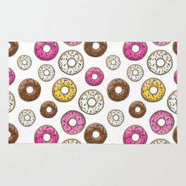 Donut Pattern - White Rug
