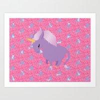 Chubby Unicorn - Show Edition! Art Print