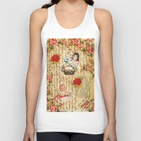 shabby chic Tank Tops featuring Shabby Chic by Diego Tirigall