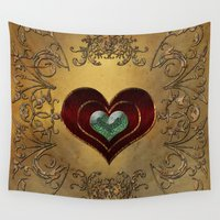 hearts Wall Tapestries featuring Hearts by nicky2342