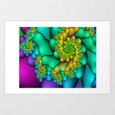 Spiral Blossoms Art Print
