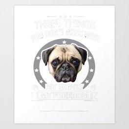 Pug Shirt  Art Print