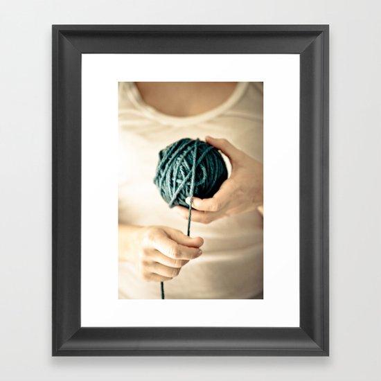 Yarn Work Framed Art Print