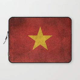 Old and Worn Distressed Vintage Flag of Vietnam Laptop Sleeve
