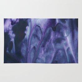 floating violets Rug