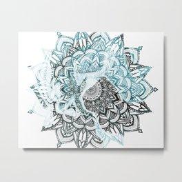 Marble Mandala Metal Print