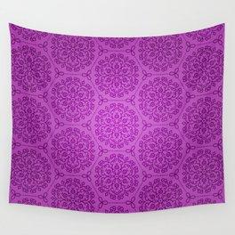 Lavender Dreams - mandala symmetrical pattern - purple tones Wall Tapestry