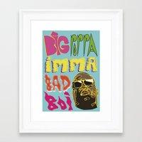biggie smalls Framed Art Prints featuring Biggie Smalls  by madebypinda