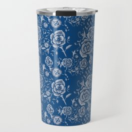 Denim and Roses Travel Mug