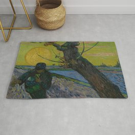 Vincent van Gogh - The Sower with Setting Sun Rug