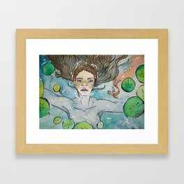 Water Lilies Framed Art Print