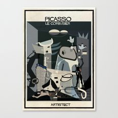 picasso+Le Corbusier Canvas Print