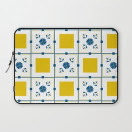 Talavera, blue and yellow flowers Laptop Sleeve