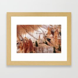 Riding Horseback Through A Western Landscape Framed Art Print