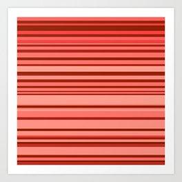 red stripes Art Print