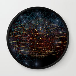 Earth Drowned Wall Clock