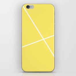 geometric yellow iPhone Skin