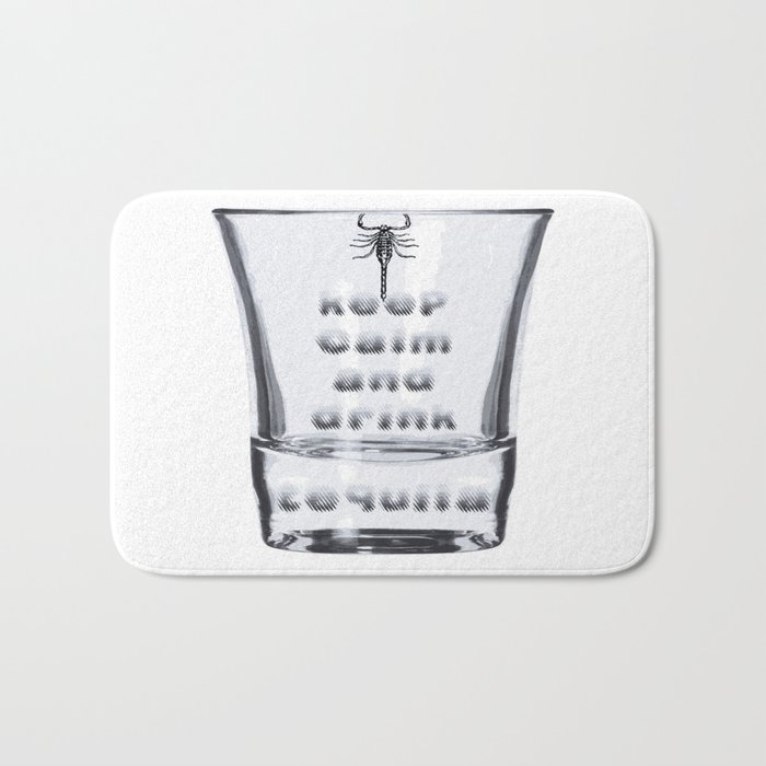 Blurred Vision Keep Calm And Drink Tequila Shots Bath Mat