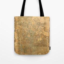 Map of Manhattan 1852 Tote Bag