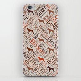 Boxer dog Word Art iPhone Skin